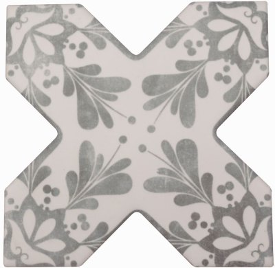 Cevica Becolors Cross Dec. Stencil Grey 13.25х13.25 керамогранит