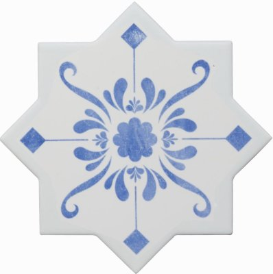 Cevica Becolors Star Dec. Stencil Electric Blue 13.25х13.25 керамогранит