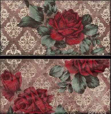 CIR  INS.S/2 VINT.ROSES OLD CHICAGO 10X20 декор