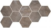 CIR керамогранит HEXAGON FREEPORT BROWN 24X27,7