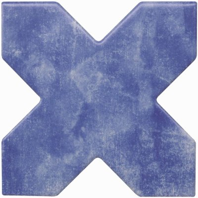 Cevica Becolors Cross Electric Blue 13.25х13.25 керамогранит