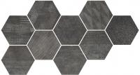 CIR керамогранит HEXAGON FREEPORT BLACK 24X27,7