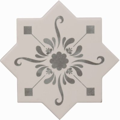 Cevica Becolors Star Dec. Stencil Grey 13.25х13.25 керамогранит
