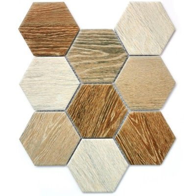 Bonaparte Wood Comb мозаика из керамогранита 295x256