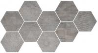 CIR керамогранит HEXAGON FREEPORT GREY 24X27,7