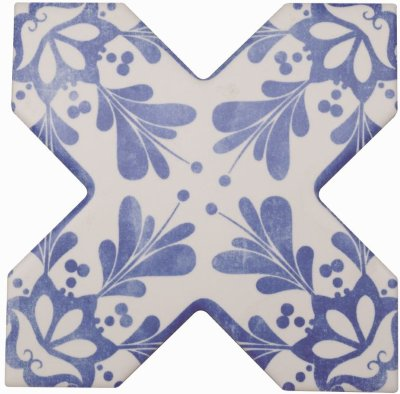 Cevica Becolors Cross Dec. Stencil Electric Blue13.25х13.25 керамогранит